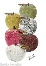 MOSAIC GLASS APPLES - CHOOSE COLOURS - GREAT FOCAL POINT FOR ROOMS