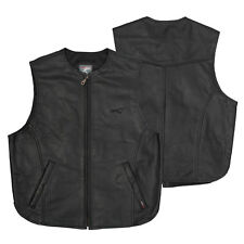 Biker Vest leather waist Coat Cowhide Motorcycle Apparel Quality All Sizes