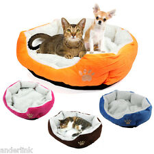4 COLORS Pet Dog Nest Puppy Cat Soft Bed Fleece Warm House Kennel Plush Mats