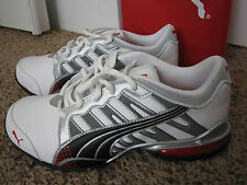 NIB Puma Voltaic 3 Micro Perf JR Microperf Youth Size 3 and 4.5 White Black red