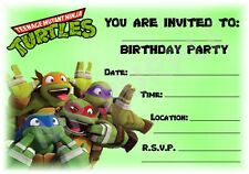 Teenage Mutant Ninja Turtles Kids Childrens Party Invitations Landscape X 12