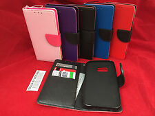 FLIP Leather Wallet Folding Case Cover Card Slot Stand WITH STRAP For HTC ONE M9