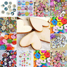 Scrapbooking Mixed Wood Wooden Buttons Clothing Sewing Cardmaking DIY Craft Gift