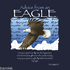 Eagle T shirt Advice From S M L XL 2XL 3XL Navy Bird Wildlife NWT Blue  Cotton