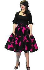 Années 1950 style look vintage rock n roll rockabilly taille haute Jupe 10 12 14 16