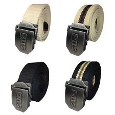 511 Mens Army series Casual Canvas Belt Stainless Steel Buckle Length 140cm USA