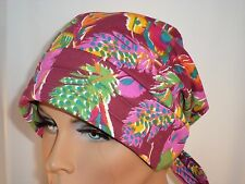 """Two Styles Feathers on Rhododendron  Chemo Turban """"Something4you"""" Alopecia Hijab"""