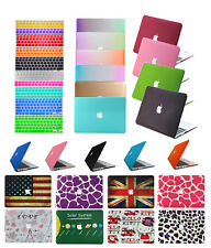 """Macbook Rubberized Hard Case &Free Keyboard Cover For Mac Pro Air 11""""13""""15"""" inch"""