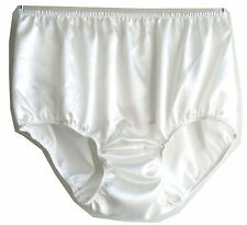 PSWH New White Briefs Silky Satin Lingerie Women Panties Lace Knickers Underwear