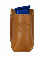 NEW Barsony Saddle Tan Leather Single Magazine Pouch CZ EAA Compact 9mm 40 45