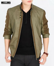 Fashion mens jacket coat stand collar short spring autumn outwear hot