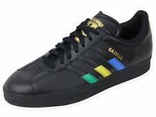New Mens Adidas Originals Gazelle II Trainers Black Leather Shoes SZ 11.5 G97299