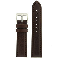 Watch Band Brown Leather Padded comfort buckle