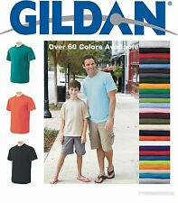 Gildan T-SHIRTS BLANK BULK LOT Colors or White S-XL Wholesale .