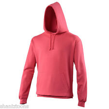 Adults Mens Womens Plain Lipstick Pink College Sports Training Hoodie 280gsm