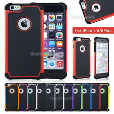 For Apple iPhone For Samsung Galaxy Black Rugged Rubber Matte Hard Case Cover