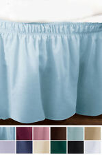 Wrap-Around Queen/King Bedskirt IN HAND Elastic Fitted Dust Ruffle Bed Skirt Fit