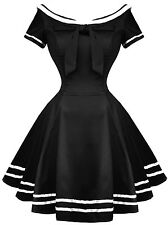 Sailor [Black & White] | DRESS H&R LONDON Alternative Punk Rockabilly Pinup Grun