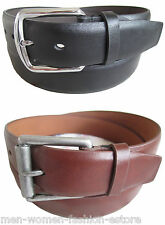 "NEW MEN'S CASUAL DRESS JEANS SOLID PLAIN FASHION LEATHER BELT 1 1/2"" WIDE 2015"