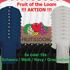 10x / 5x Fruit of the Loom T-Shirt Valueweight 4 Farben S-5XL Shirt Shirts