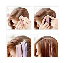 EDC Colorful Straight Clip In Synthetic Fiber Hair Extensions Hair Pieces Wig