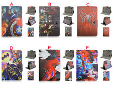 "Universal 7"" inch Tablet PC Fold Super Hero Kids Cartoon PU Leather Case Cover"