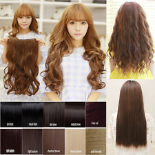 One Piece Clip in Synthetic 3/4 Full Head Hair Extensions Straight Curly UCB