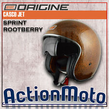 Casco Custom HELMET JET Origine Sprint Rootberry Moto e Scooter