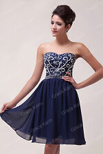 GK Beaded Homecoming Short Gown Cocktail Party Formal Evening Prom Chiffon Dress