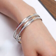 New Charming Women's Polished Stainless Steel Womens Girls Bracelet Bangle