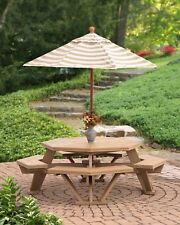 Poly Lumber Wood Octagon Table
