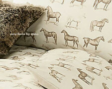 Vintage Country Horse Print Duvet Cover Bedding Set Double King