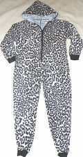 All in One Lounge with Hood Suit, Ladies and Girls Sizes in Leopard Print