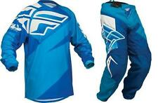 2014 F16 Fly Jersey & Pants Combo MX ATV Off-Road Blue Adult and Youth
