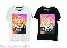 "Mossimo Men's Cotton Crew Tee ""Sunset Shore"" Black or Snow Marle BNWT 60% OFF"