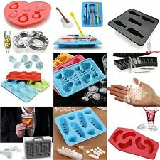 Ice Box Cube Tray Mold Jello Chocolate Tray Random Colors Silicone Safe DIY Tool