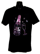 HOLIDAY OR HEN NIGHT LADIES FITTED T SHIRT WITH RHINESTUD DESIGN(any size)