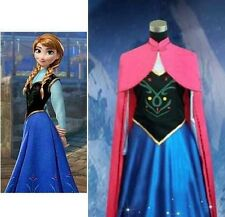 Adult Women's Anna Elsa Frozen Costume Cosplay With Cape