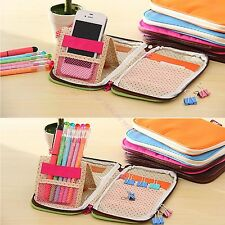 Stationery Pen Case Pencil Bag Cosmetic Pack Phone Card Bags Hand Pouch