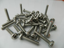 M5 / 5MM  A2 Stainless Steel Pozi/Pozidrive Pan Head Machine Screws / Bolts