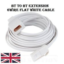 2m 3m 5m 10m 15m 20m BT FULLY WIRED 6 Telephone Extension Cable Male to Female F