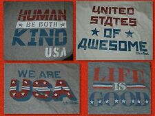 DIFFERENT Men's Life is Good Patriotic USA SS Crusher Tees