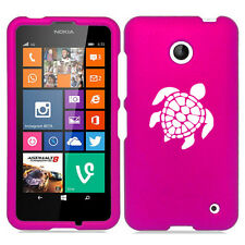 For Nokia Lumia 630 635 Rubber Hard Case Cover Sea Turtle