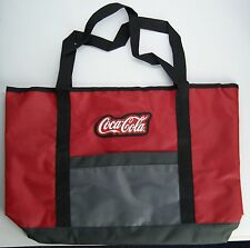 COCA-COLA Red and Gray Logo Tote Bag 19 inches - Brand New