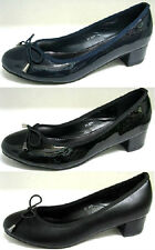 LADIES SPOT ON BOW DETAIL CASUAL ROUND TOE COURT SHOES F9814