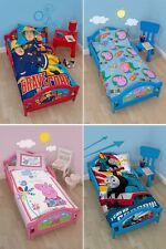 CHILDRENS KIDS TODDLER JUNIOR COT BED CHARACTER CARTOON GIRLS BOYS