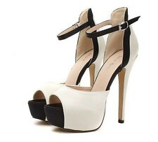 Womens High Heels Platform Sandals Satin Peep-toe Stilettos Pumps Clubwear Shoes