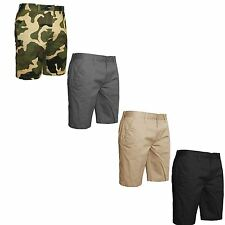 NEW MENS CHINO SHORTS SMART COTTON SUMMER COMBAT CASUAL CARGO PANTS SIZE 30-40