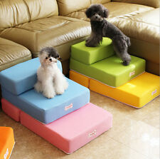 Home Cat Dog Pet Bed Stairs Ladder Foldable 8 Color 2-Step Pet Stairs Dog Ramp