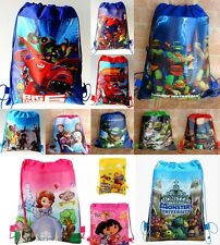 30 Design Disney cartoon movie school GYM bag carry Drawstring backpack